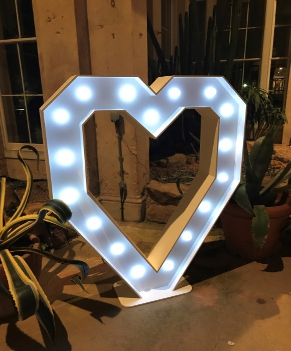 Giant heart light