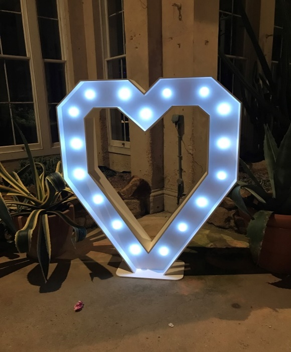 giant love heart light