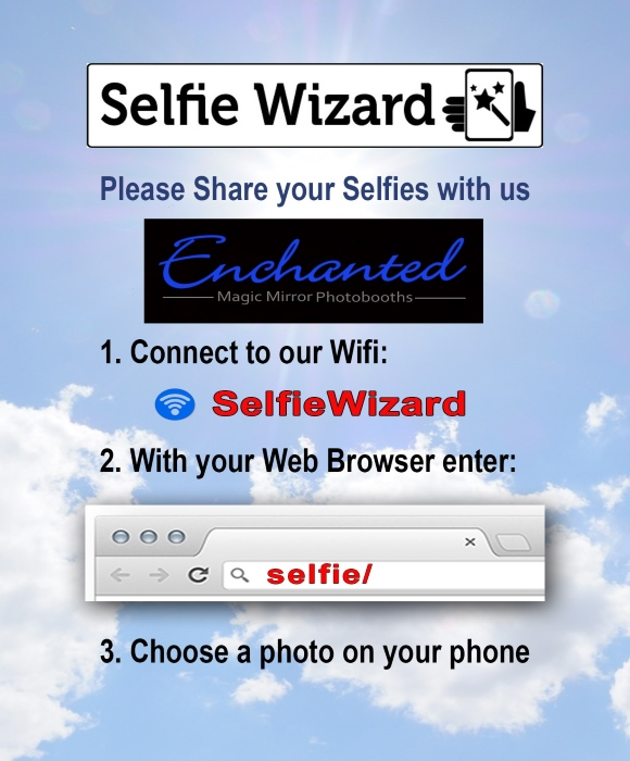 enchanted selfie wizard guest information