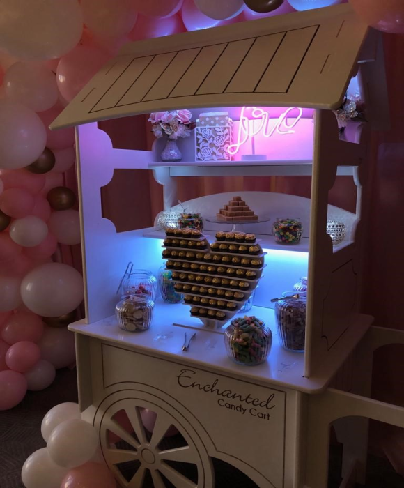 enchanted candy sweet cart